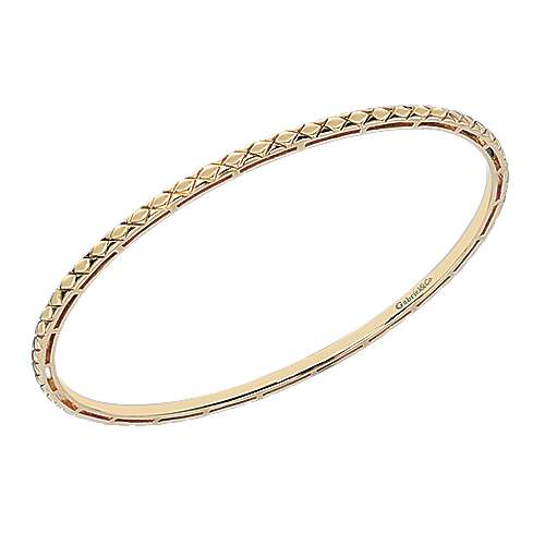 14k Yellow Gold Contemporary Bangle angle 2