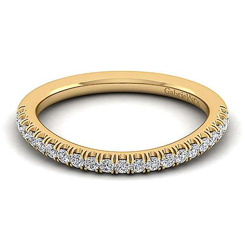 Gabriel - 14k Yellow Gold Contemporary Curved Wedding Band