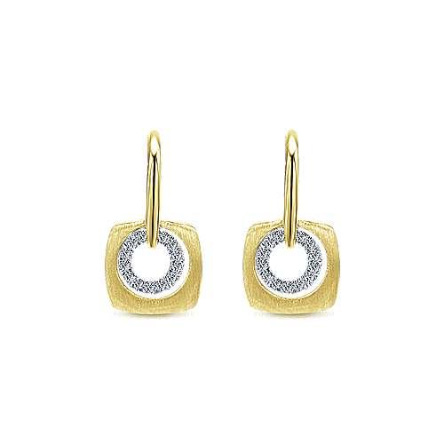 Gabriel - 14k Yellow Gold Contemporary Drop Earrings