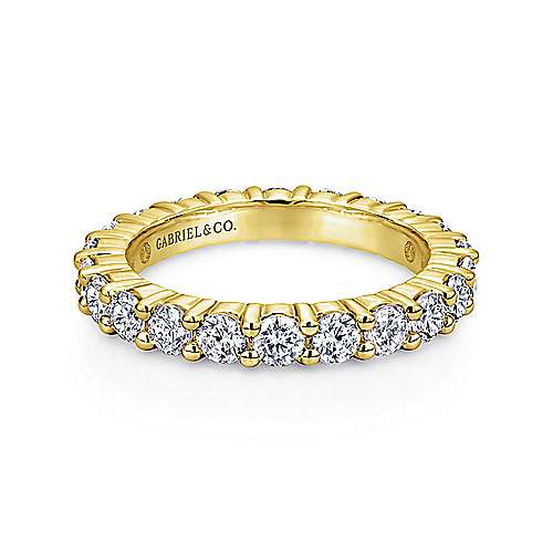 Gabriel - 14k Yellow Gold Contemporary Eternity Band Anniversary Band