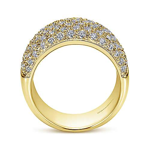 14k Yellow Gold Contemporary Fancy Anniversary Band angle 2