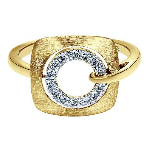Gabriel - 14k Yellow Gold Contemporary Fashion Ladies' Ring