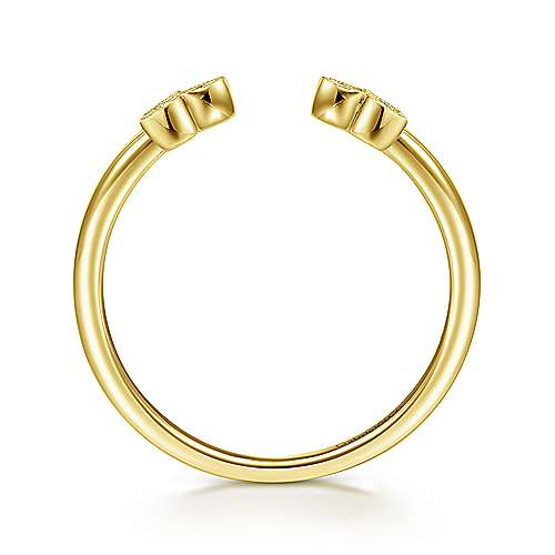 14k Yellow Gold Contemporary Fashion Ladies' Ring angle 2