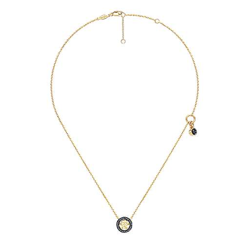 14k Yellow Gold Contemporary Fashion Necklace angle 2