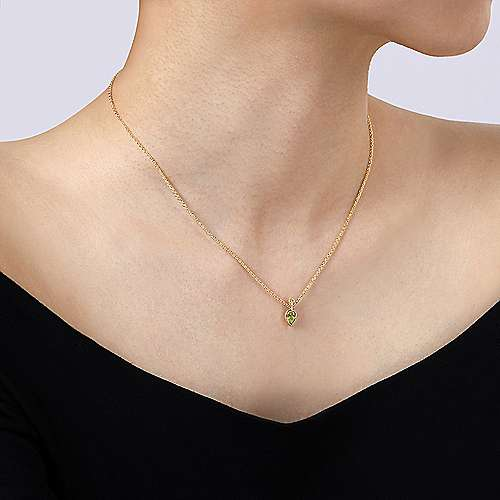 14k Yellow Gold Contemporary Fashion Necklace angle 3