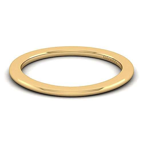 Gabriel - 14k Yellow Gold Contemporary Straight Wedding Band