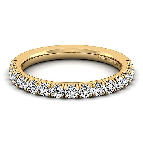 Gabriel - 14k Yellow Gold Contemporary Straight Wedding Band
