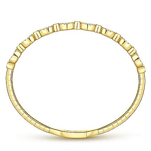 14k Yellow Gold Demure Bangle