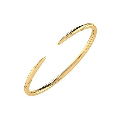 14k Yellow Gold Demure Bangle
