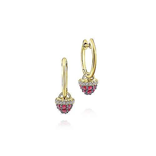 Gabriel - 14k Yellow Gold Huggies Drop Earrings