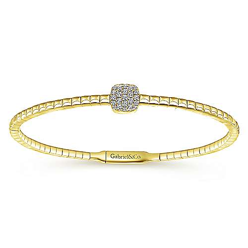 14k Yellow Gold Demure