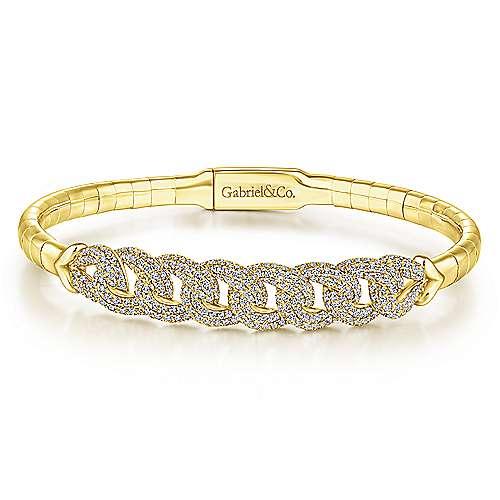 Gabriel - 14k Yellow Gold Demure Bangle