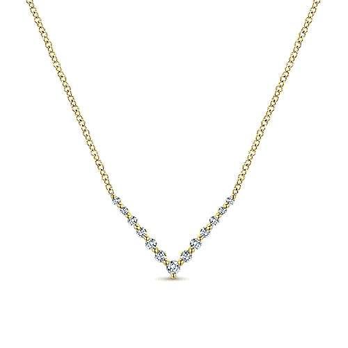 Gabriel - 14k Yellow Gold Indulgence Bar Necklace