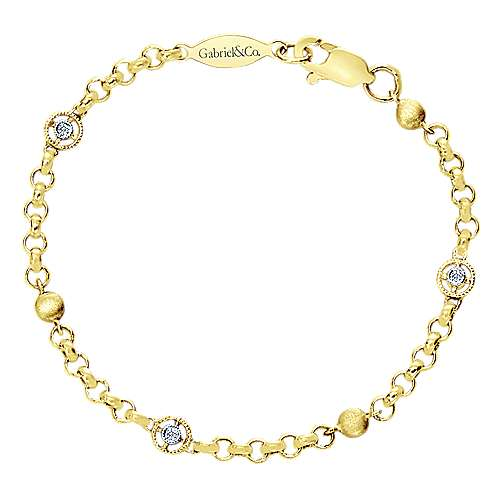 Gabriel - 14k Yellow Gold Secret Garden Chain Bracelet