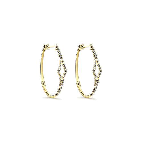 Gabriel - 14k Yellow Gold Hoops Classic Hoop Earrings
