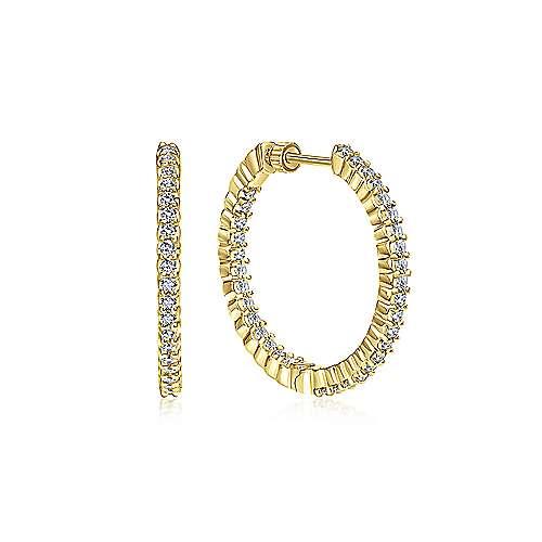 14k Yellow Gold Hoops Classic Hoop