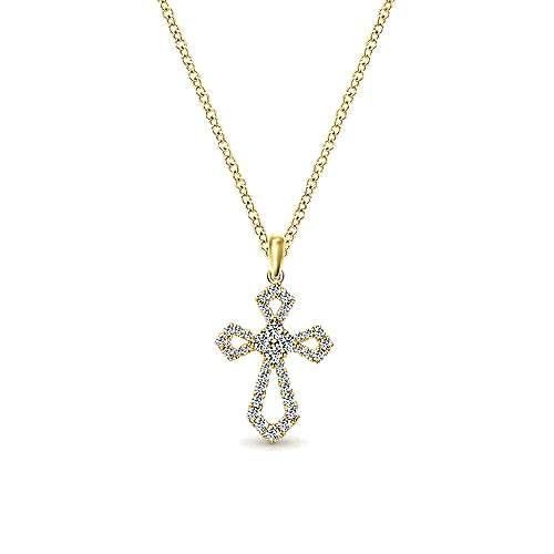 14k Yellow Gold Faith Cross
