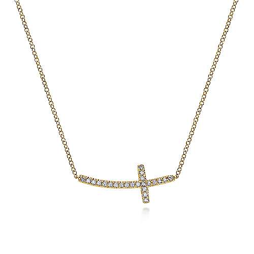 14k Yellow Gold Faith Cross