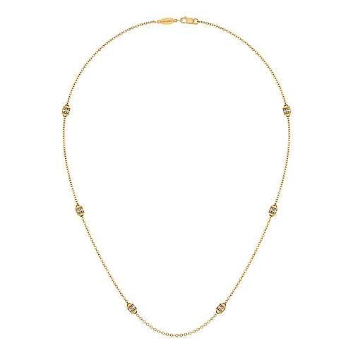 14k Yellow Gold Diamond Diamond By The Yard Necklace angle 2