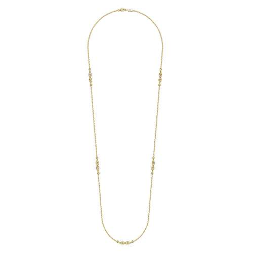 14k Yellow Gold Diamond Diamond By The Yard Necklace angle 2