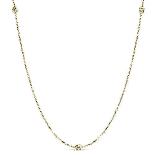 Gabriel - 14k Yellow Gold Endless Diamonds Diamond By The Yard Necklace