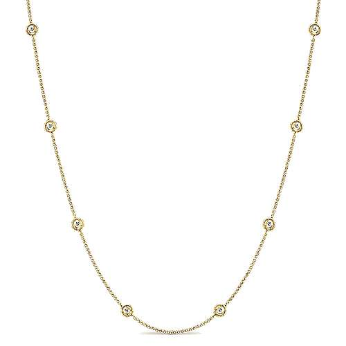 Gabriel - 14k Yellow Gold Endless Diamonds Diamond By The Yard Necklace
