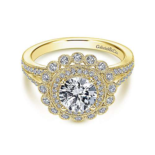 Gabriel - 14k Yellow Gold Empire Engagement Ring