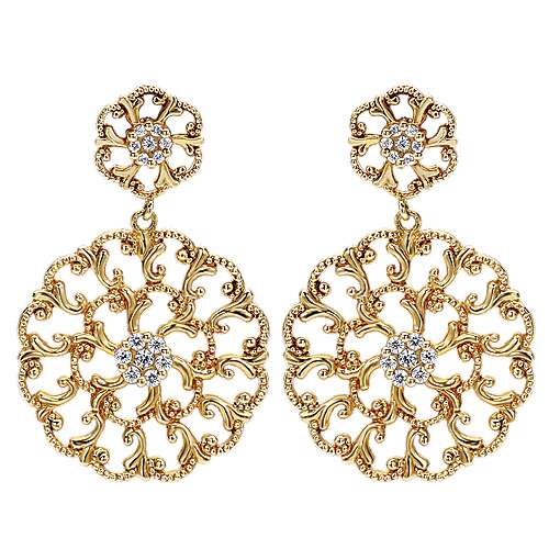 Gabriel - 14k Yellow Gold Flirtation Drop Earrings