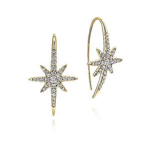Gabriel - 14k Yellow Gold Starlis Drop Earrings