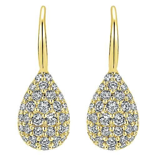 Gabriel - 14k Yellow Gold Silk Drop Earrings