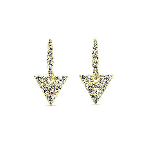 Gabriel - 14k Yellow Gold Art Moderne Drop Earrings