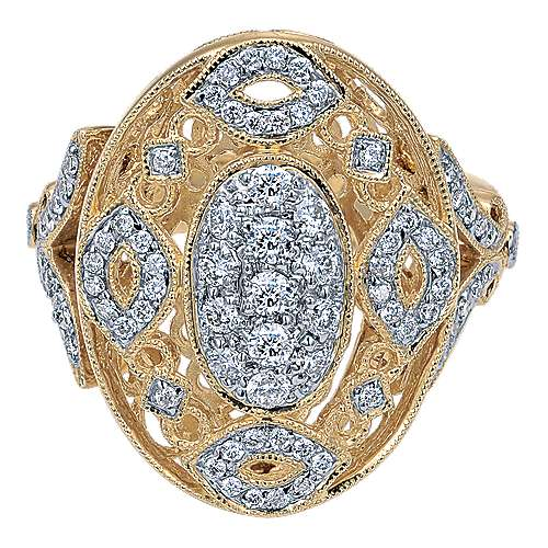 Gabriel - 14k Yellow Gold Mediterranean Fashion Ladies' Ring