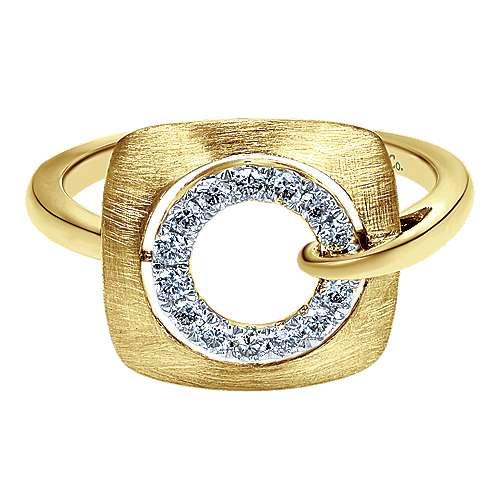 Gabriel - 14k Yellow Gold Contemporary Fashion Ladies' Ring