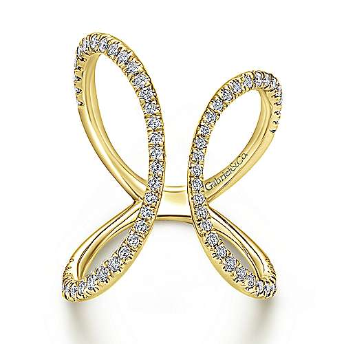 Gabriel - 14k Yellow Gold Kaslique Fashion Ladies' Ring
