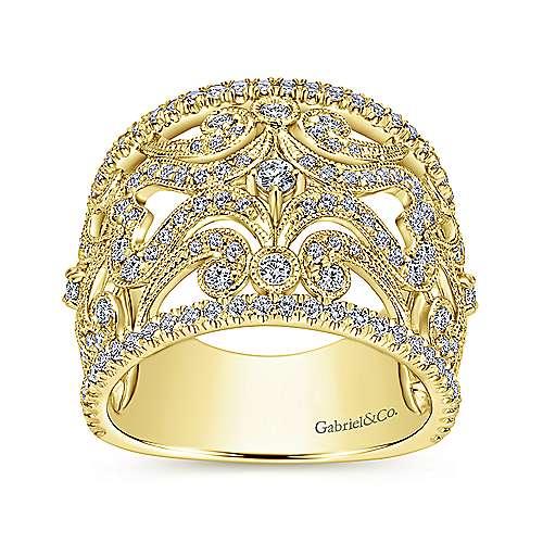 14k Yellow Gold Diamond Fashion Ladies