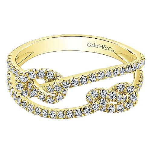 Gabriel - 14k Yellow Gold Eternal Love Fashion Ladies' Ring