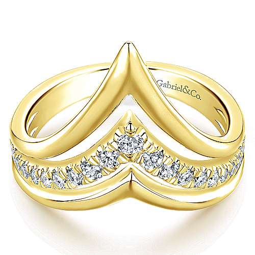 Gabriel - 14k Yellow Gold Lusso Diamond Fashion Ladies' Ring
