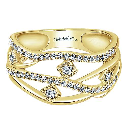 14k Yellow Gold Lusso Diamond Fashion