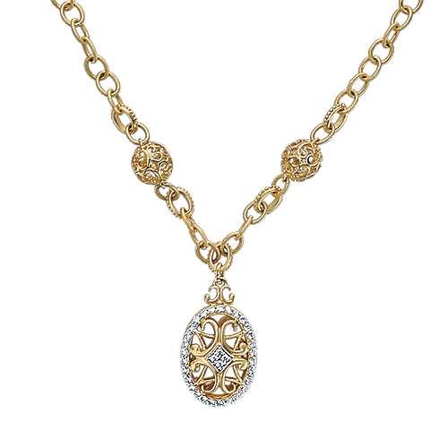 Gabriel - 14k Yellow Gold Mediterranean Fashion Necklace