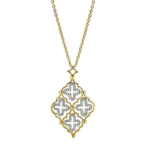 Gabriel - 14k Yellow Gold Bombay Fashion Necklace