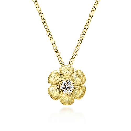 14k Yellow Gold Floral Fashion