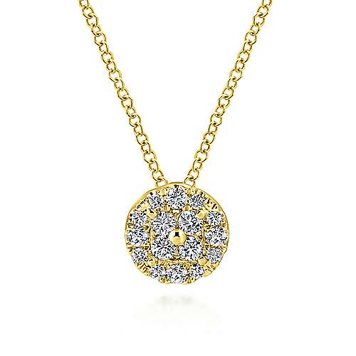 14k Yellow Gold Clustered Diamonds Fashion