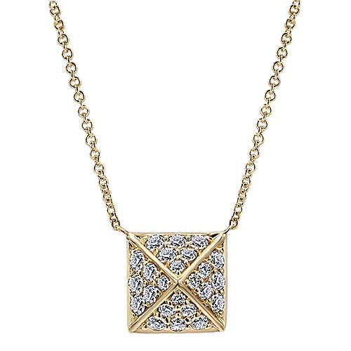Gabriel - 14k Yellow Gold Fierce Fashion Necklace