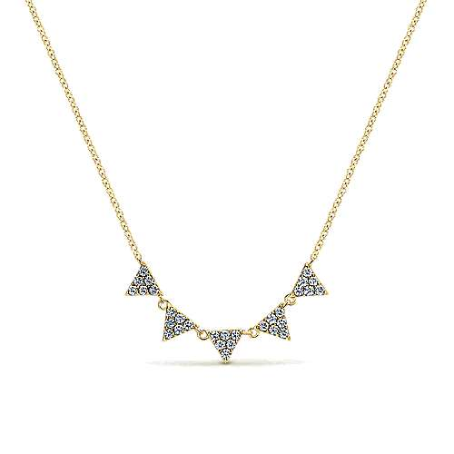 14k Yellow Gold Diamond Fashion Necklace angle 1