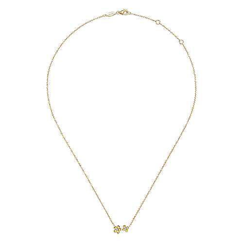 14k Yellow Gold Diamond Fashion Necklace angle 2