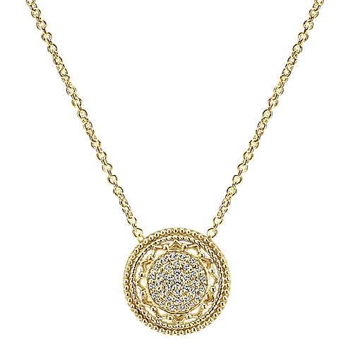Gabriel - 14k Yellow Gold Flirtation Fashion Necklace