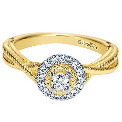 Gabriel - 14k Yellow Gold Riata Engagement Ring