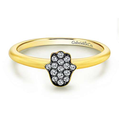 Gabriel - 14k Yellow Gold Faith Hand Of God Ladies' Ring
