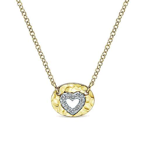 14k Yellow Gold Eternal Love Heart