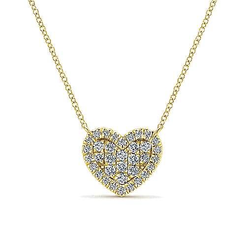 14k Yellow Gold Eternal Love Heart
